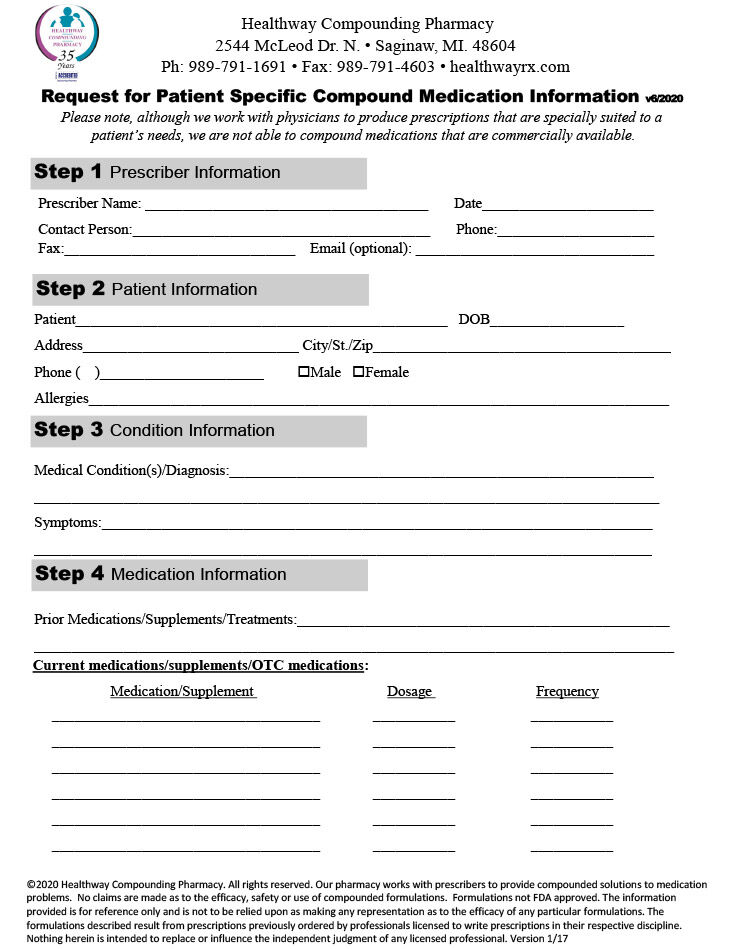 Request for Compounded Medication Information